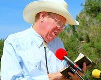 Cowboy preacher. Royalty Free Stock Image