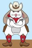 Cowboy Rabbit. Tough cowboy rabbit is holding a pair of pistols Stock Photo