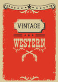 Cowboy red background with western decoration Royalty Free Stock Photos