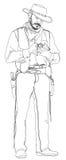 Сowboy with a revolver Stock Photos