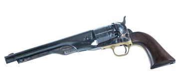 Cowboy Revolver Isolated On White Background Royalty Free Stock Photography