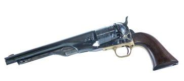 Cowboy Revolver Isolated på vit bakgrund Royaltyfri Fotografi