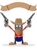 Cowboy and revolvers Royalty Free Stock Photos