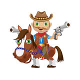 Cowboy rider on a stallion, Wild West character Royalty Free Stock Photos