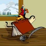 Cowboy riding a book Stock Photo
