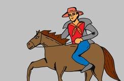 Cowboy riding his horse Royalty Free Stock Photos