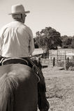 Cowboy riding a horse Royalty Free Stock Photos