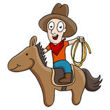 Cowboy Riding Horse Images stock