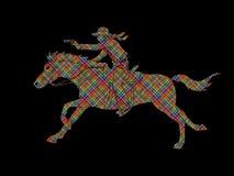 Cowboy riding horse,aiming a gun graphic vector. Cowboy riding horse,aiming a gun illustration graphic vector Stock Photography