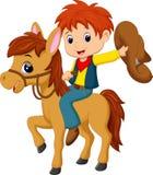 Cowboy riding a horse. Illustration of cowboy riding a horse Stock Photos