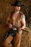 Cowboy with rifle Royalty Free Stock Image