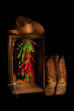 Cowboy Ristra Closet met Kruis Royalty-vrije Stock Foto's