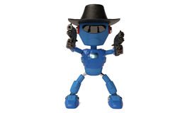 Cowboy robot vector illustration