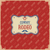 Cowboy rodeo card.Vector label background Stock Photos