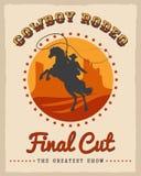 Cowboy Rodeo Poster Photos libres de droits
