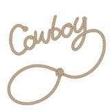 Cowboy rope. Illustration of cowboy rope isolated over white background Stock Images