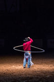 Cowboy with rope Stock Photography