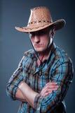 Cowboy sévère Image libre de droits
