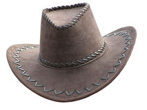 Cowboy's hat over white Royalty Free Stock Photos