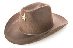 Cowboy`s hat. On a white background Royalty Free Stock Photos