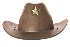 Cowboy`s hat. On a white background Stock Photography