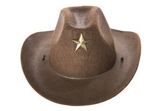 Cowboy`s hat. On a white background Stock Images