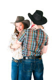 Cowboy's love story Stock Photos