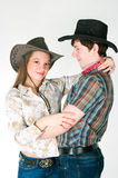 Cowboy's love story Stock Photos