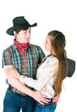 Cowboy's love story Stock Images