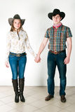 Cowboy's love story Royalty Free Stock Photos