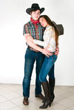 Cowboy's love story Stock Photo