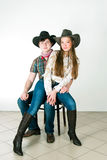 Cowboy's love story Stock Image
