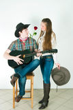 Cowboy's love story Royalty Free Stock Image