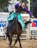 Cowboy Saddle Bronc Rodeo royalty free stock photography