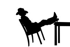 Cowboy in saloon Royalty Free Stock Photography