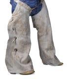 Cowboy in screpolature ed in stivali Fotografia Stock Libera da Diritti