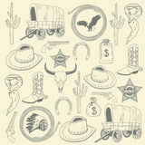Cowboy seamless pattern Stock Image