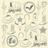 Cowboy seamless pattern royalty free illustration