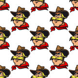 Cowboy seamless pattern Royalty Free Stock Image