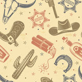 Cowboy Seamless Pattern Royalty Free Stock Images