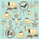 Cowboy seamless pattern Royalty Free Stock Photos