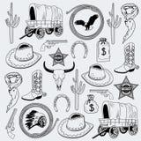 Cowboy seamless pattern Stock Image