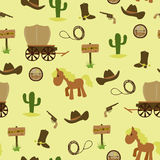 Cowboy seamless wallpaper Royalty Free Stock Images