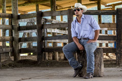 Free Cowboy Seated Stock Photos - 39963553