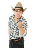 Cowboy sends a kiss Stock Images