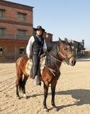 Cowboy Sheriff on horseback Stock Photos