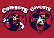 Cowboy sheriff with lasso. Vector of cowboy sheriff with lasso Royalty Free Stock Images