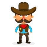 Cowboy sheriff pistol. Wild West cowboys hat drawing illustration beautiful Stock Photo