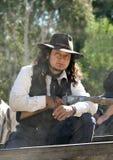 Cowboy Sheriff on a wagon Royalty Free Stock Photos