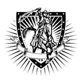 Cowboy shield Royalty Free Stock Photos